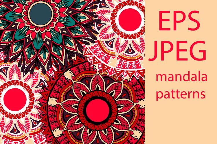 Boho flowers - mandala patterns example image 1