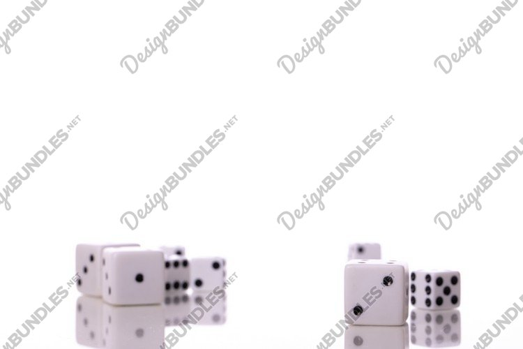 Dice set for board games isolated on white background. example image 1