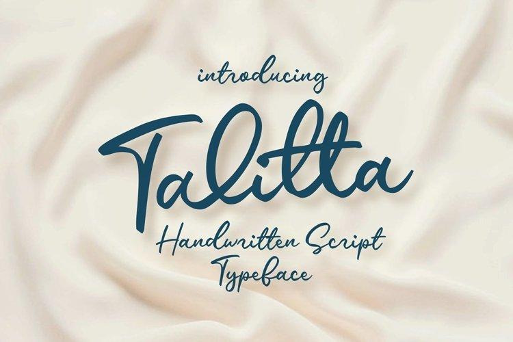 Talitta - Script Font example image 1