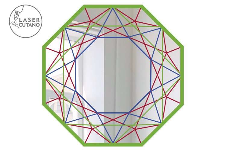 Multilayer Cut File Round Wall Mirrow Frame example 2