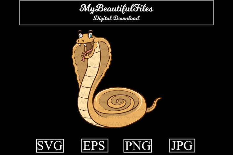 Snake SVG - Cartoon Animal SVG, EPS, PNG and JPG example image 1