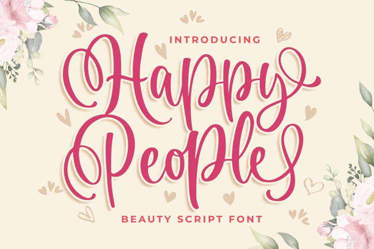 Happy People Beauty Script Font example image 1