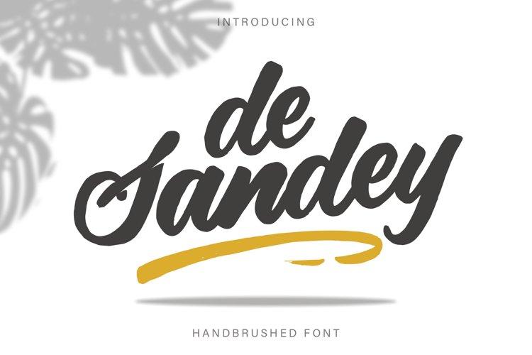De Sandey || Handbrushed Font example image 1