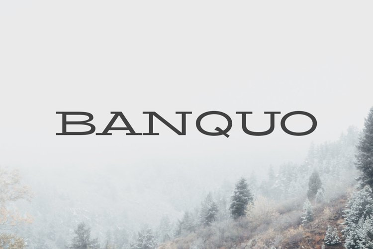 Banquo Serif Font Family example image 1