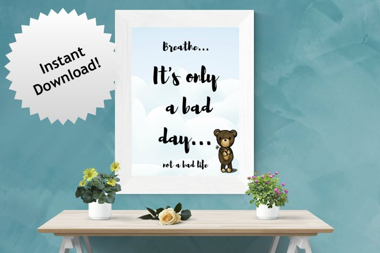 Uplifting quote with a cute bear image example image 1