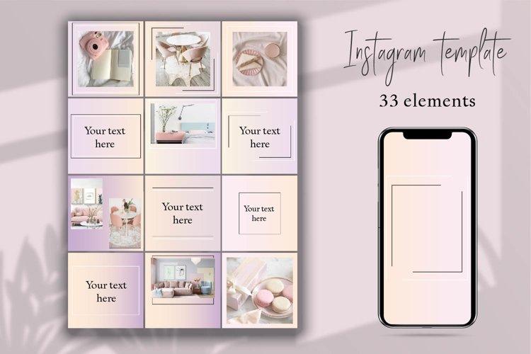 Minimal instagram template.Instagram Feed example image 1