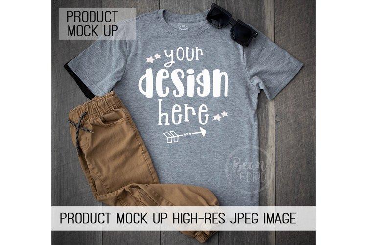 Kids Grey Shirt Mock up Product Mock Up
