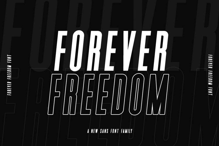 Forever Freedom Font Family example image 1