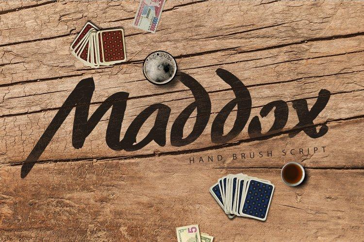 Maddox Hand Brush Typeface example image 1