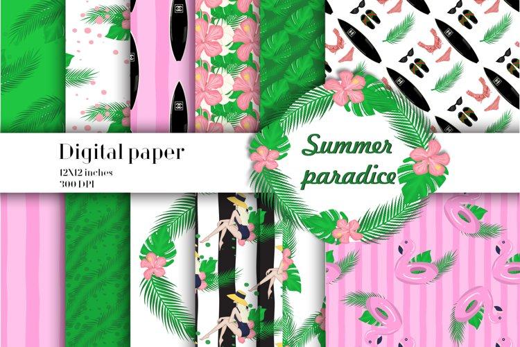 Summer paradise digital paper