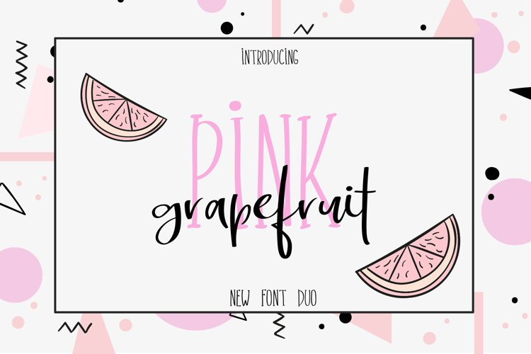 Pink Grapefruit font duo example image 1