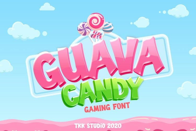Guava Candy - Kids and Gaming Font example image 1