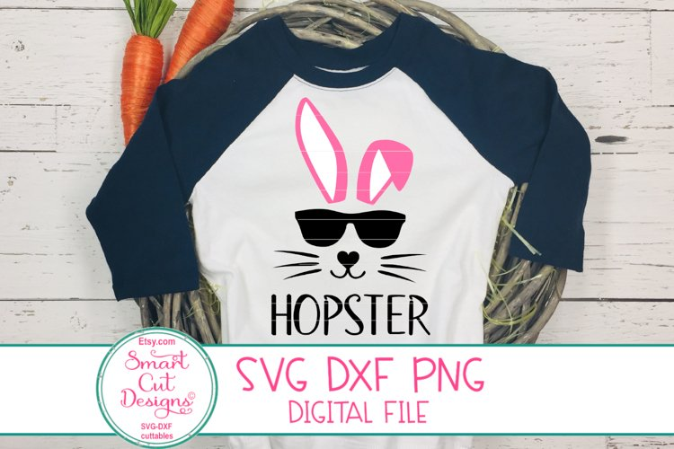 Hopster SVG, Easter Kids Svg, Cool Bunny, Bunny Face SVG,DXF example image 1