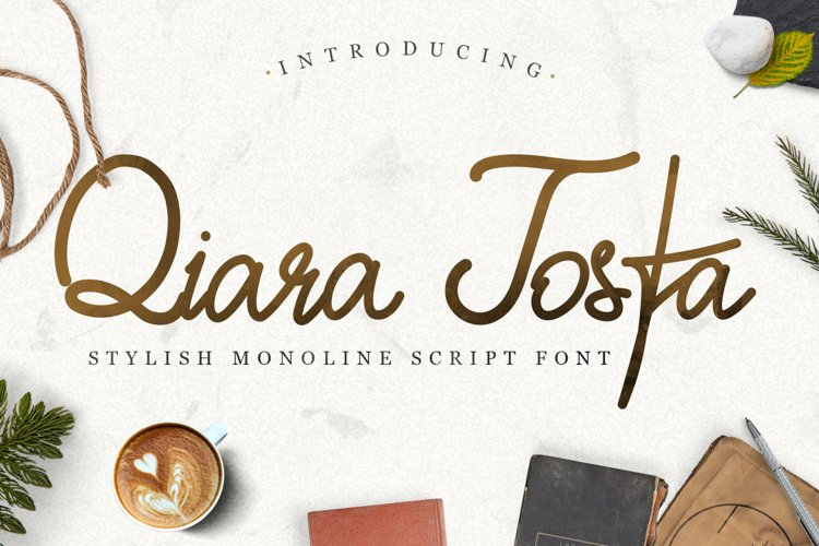 Monoline Script - Qiara Tosfa example image 1