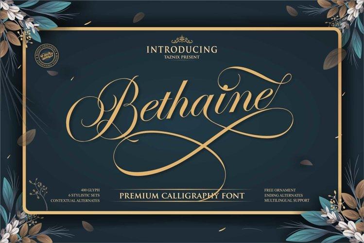 Bethaine Premium Calligraphy Font example image 1