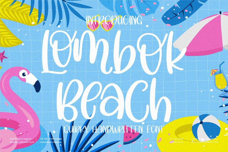 Lombok Beach - Quirky Handwritten Font example image 1