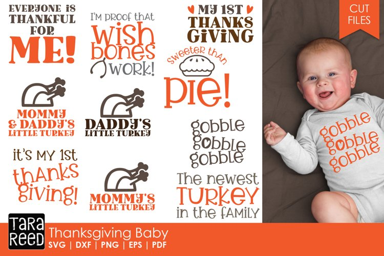 Thanksgiving Baby - Thanksgiving SVG and Cut Files