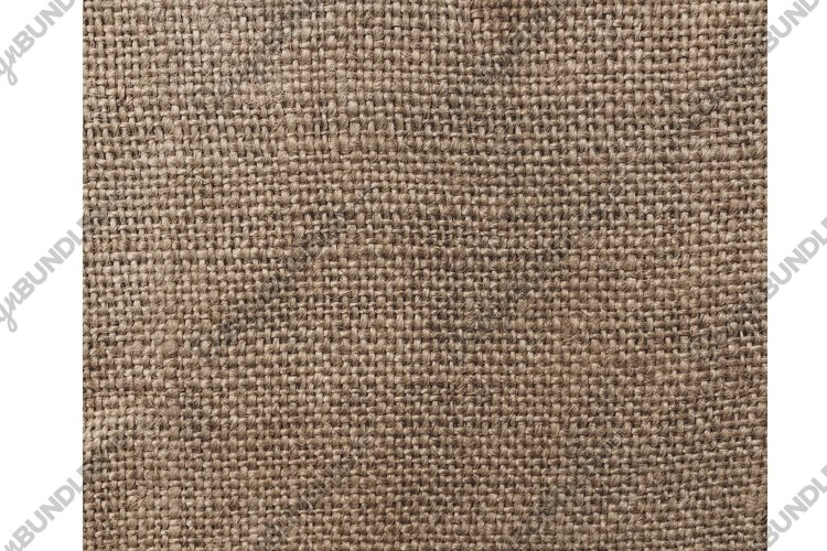 Vintage textural background. Beige old linen fabric example image 1