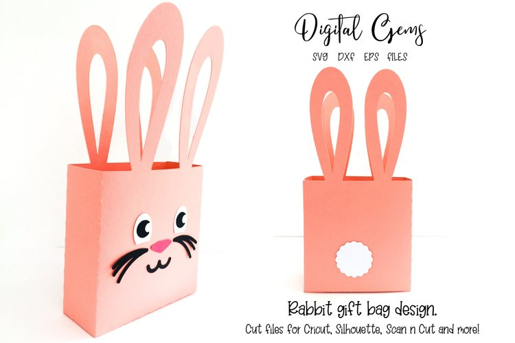Rabbit ear gift bag design SVG / DXF / EPS files example image 1