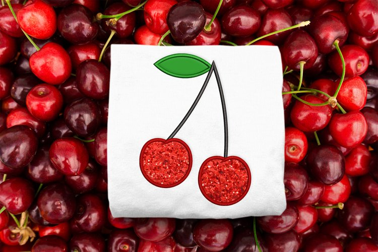 Cherry Applique Embroidery example image 1