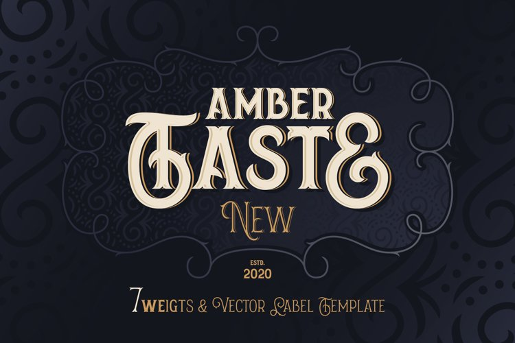Amber Taste New! Font and Template. example image 1