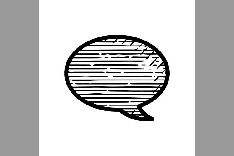 hand drawn bubble chart, message symbol line icon, Vector Il example image 1