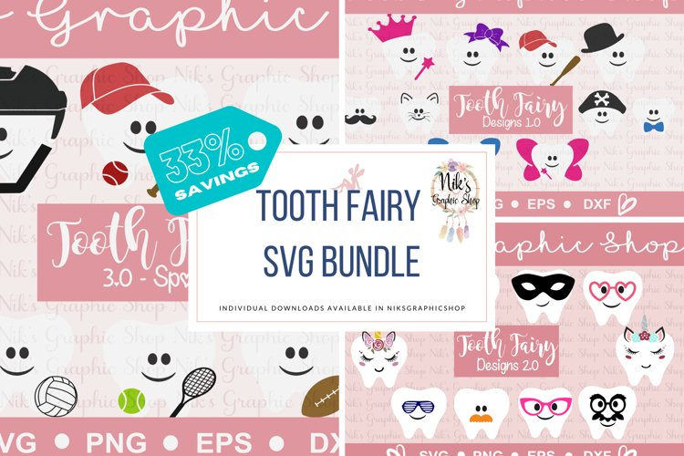 Tooth Fairy Svg Bundle - ALL 3 included