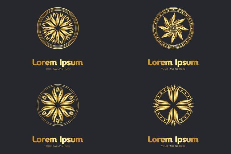 Set of decorative mandala logos example image 1