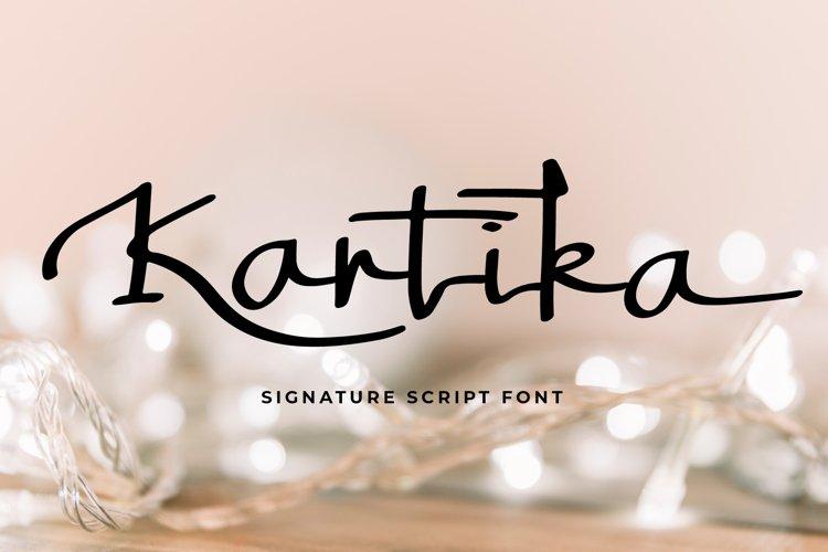 Kartika a Signature Script Font example image 1