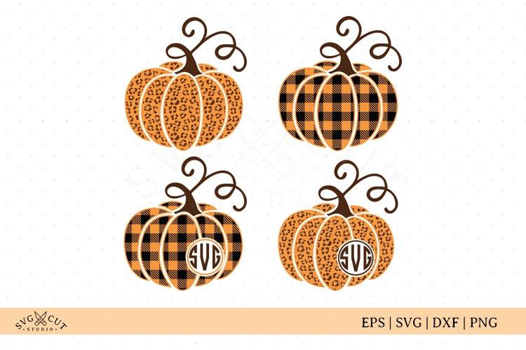 Plaid Cheetah Pumpkin SVG Cut Files