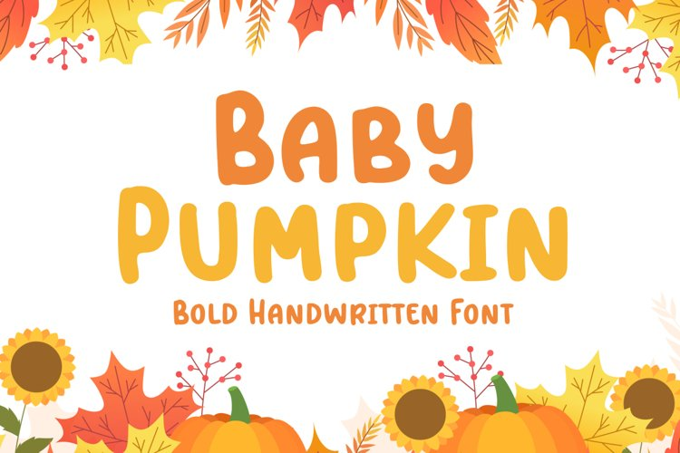 Baby Pumpkin - Fun Display Font example image 1