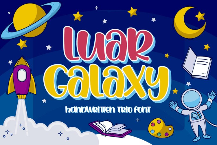 Luar Galaxy - Handwritten fonts example image 1