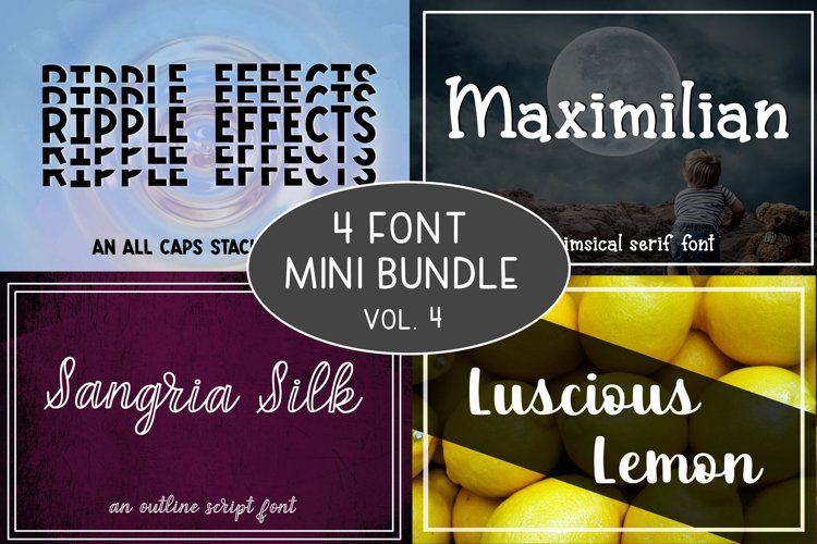 4 Font Mini Bundle - Volume 4 example image 1