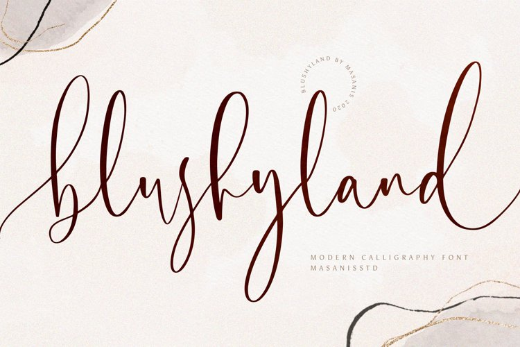 Blushyland - Modern Calligraphy Font example image 1