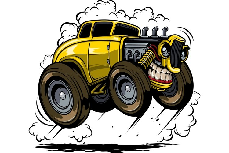 angry hotrod tshirt design example image 1
