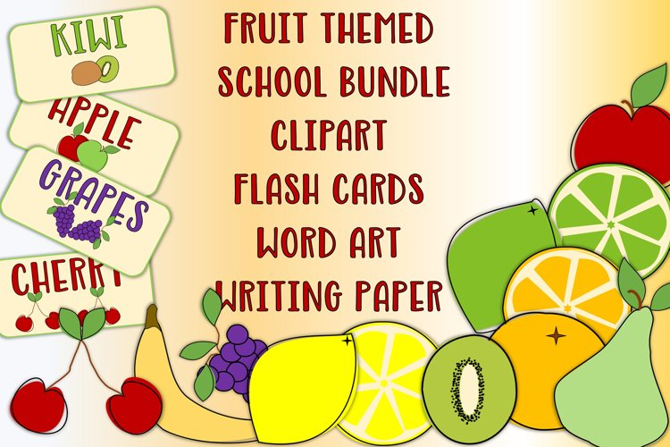 School Or Teacher Clipart Fruit Topic clipart and resources example image 1