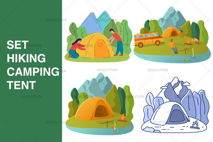 Hiking Camping Tent example image 1