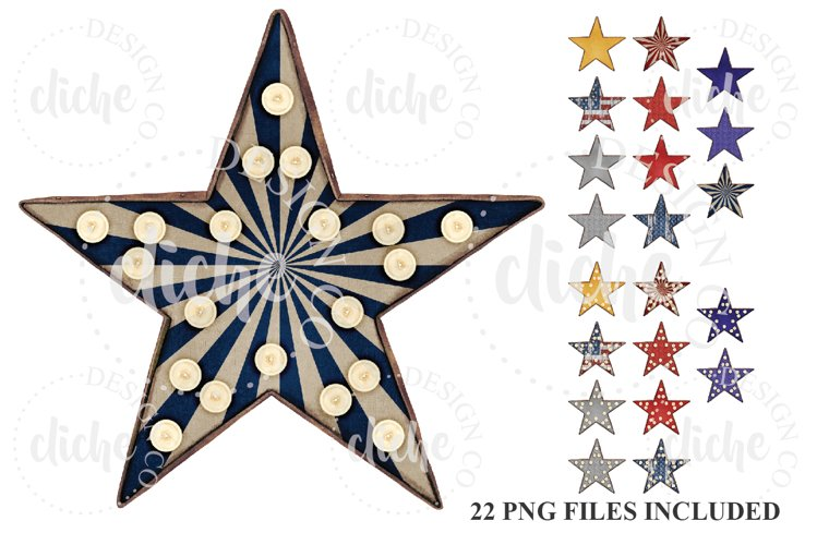 Star Marquee Sublimation Design Elements Bundle