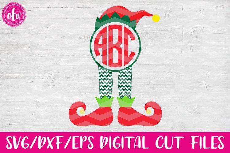 Monogram Elf Legs - SVG, DXF, EPS Cut Files example image 1