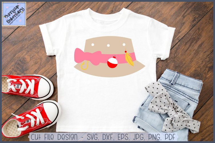 Download Girl Fishing Bucket Hat Svg And Clipart 284021 Cut Files Design Bundles