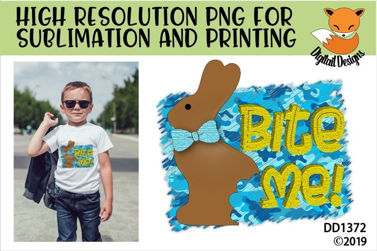 Bite Me Chocolate Easter Bunny Sublimation example image 1