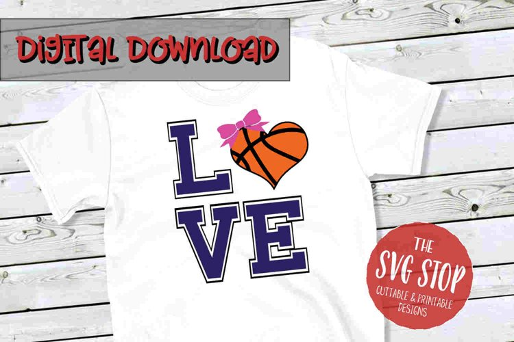 Love Heart Basketball 2 -SVG, PNG, DXF