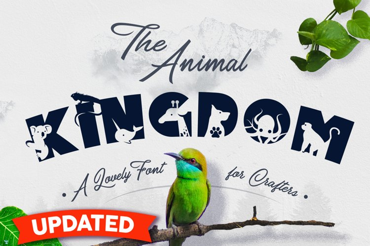 Animal Kingdom Craft Font | Wild Animals Font example image 1