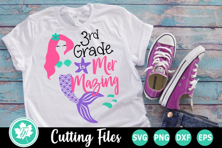 3rd Grade is Mer Mazing - A School SVG Cut File example image 1