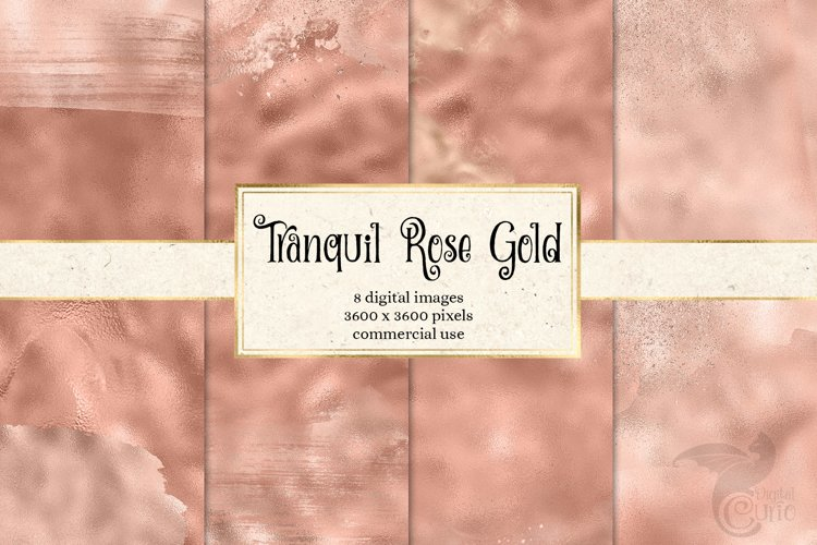 Tranquil Rose Gold Digital Paper example image 1