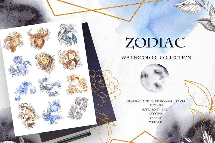 Zodiac. Watercolor collection