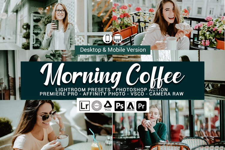Morning Coffee Presets,Photoshop actions,LUTS,VSCO example image 1