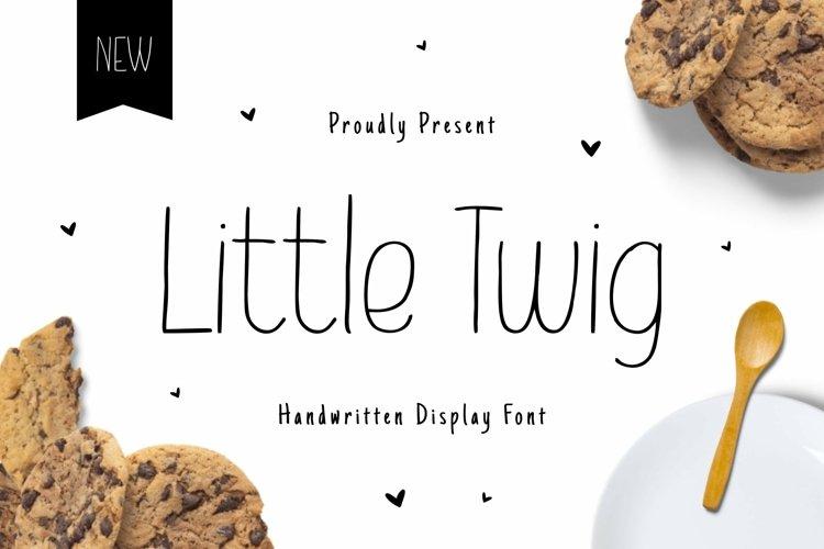 Web Font Little Twig Monoline example image 1