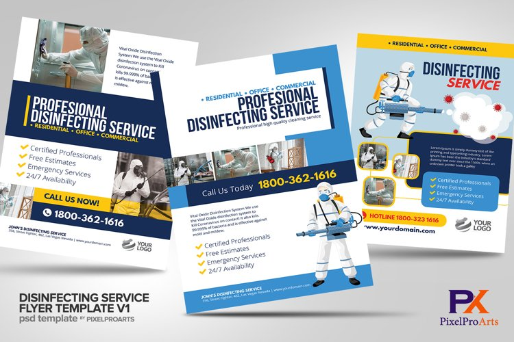 Disinfecting Services Flyer Template Bundle V1