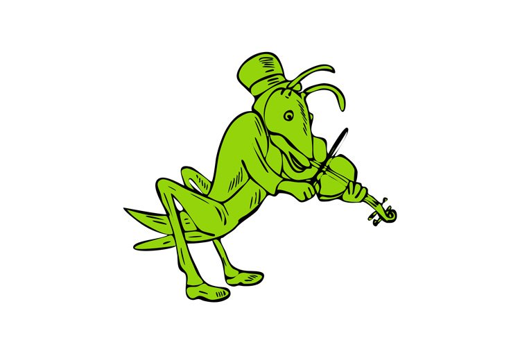 Grasshopper Fiddler Drawing example image 1